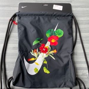 NWT Floral Nike Gym Sack Drawstring Backpack